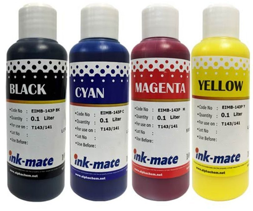 Набор чернил Ink-Mate EIM-143 Mult (Pigment) 4x100 ml для Epson (EIM143NB4W100)
