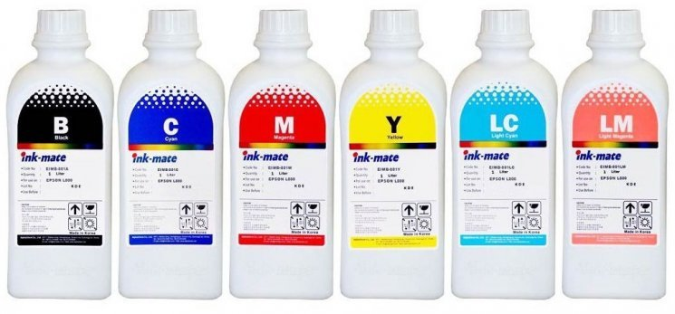 Набор чернил Ink-Mate EIM-801 Mult (Dye) 6x1000 ml для Epson (EIM801NB6W1000)