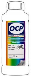 Серые чернила OCP BKP113 (Pigment Light Black) 100 ml для Epson