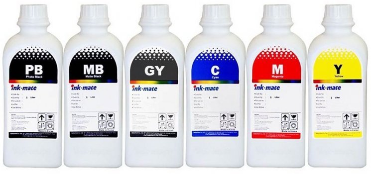 Набор чернил Ink-Mate HIM-072 Mult (Dye) 6x1000ml для HP (HIM072NB6W1000)