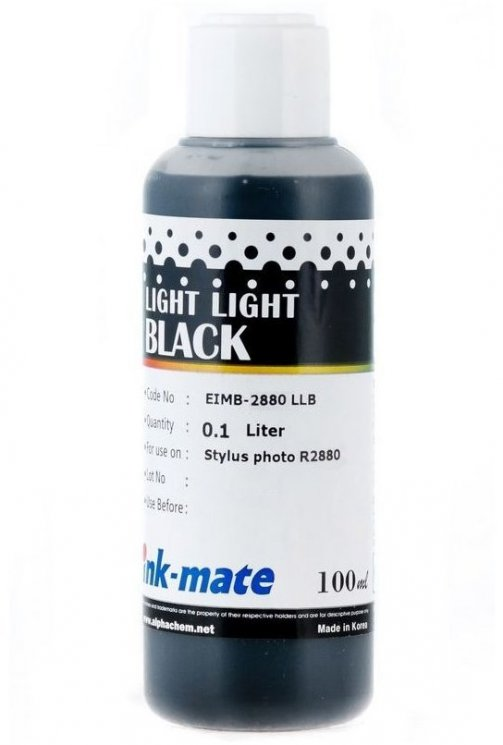 Светло-серые чернила Ink-Mate EIM-2880LLA (Pigment Light Light Black) 100 ml для Epson (EIM2880LLAW100) в Барановичах