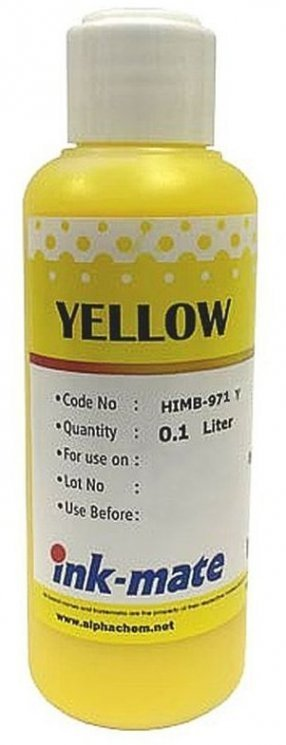 Желтые чернила Ink-Mate HIM-971Y (Yellow) 100ml для HP (HIM971Y100)