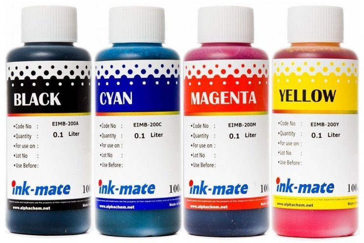 Набор чернил Ink-Mate EIM-200 Mult (Dye) 4x100 ml для Epson (EIM200NB4W100) в Минске