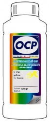 Желтые чернила OCP Y136 (Yellow) 100ml для Canon